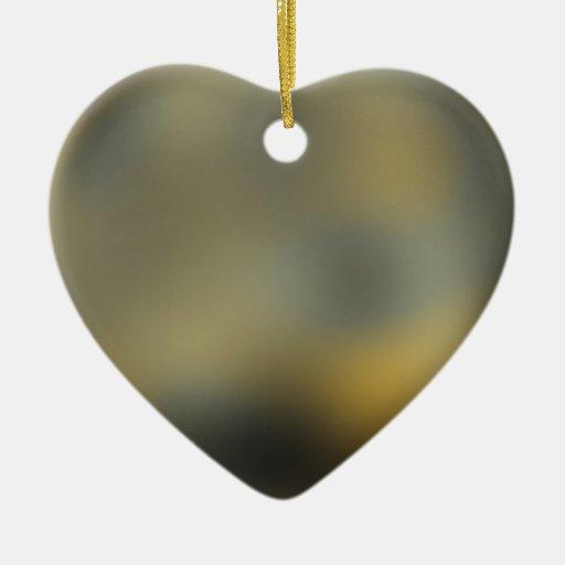 Bola gigante del planeta de Plutón en el cielo Adorno De Cerámica En Forma De Corazón