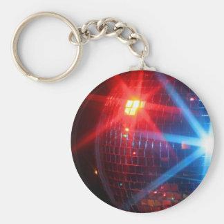 Bola giratoria del disco del espejo con las luces  llavero redondo tipo pin