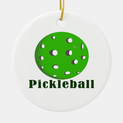 bola green.png del texto n del pickleball adornos de navidad