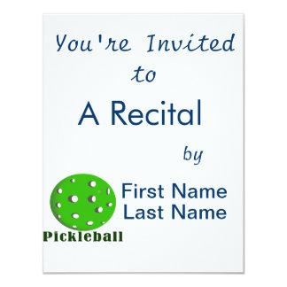 "bola green.png del texto n del pickleball invitación 4.25"" x 5.5"""