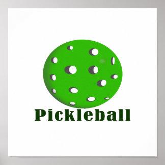 bola green.png del texto n del pickleball impresiones