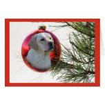 Bola Hanging5 de la tarjeta de Navidad del labrado