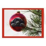 Bola Hanging9 de la tarjeta de Navidad del labrado