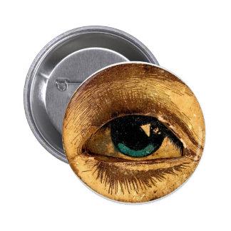 Bola impar espeluznante del ojo que le mira pin