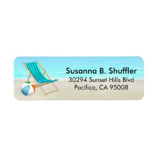 Bola linda de la silla de playa de la diversión etiqueta de remite