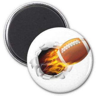 Bola llameante del fútbol americano que rasga un imán redondo 5 cm