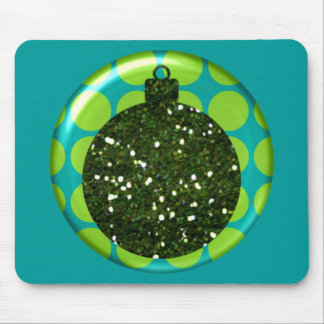 Bola Mousepad del ornamento del navidad Tapetes De Ratón