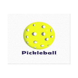 bola n text.png del pickleball apenas impresiones en lona estiradas