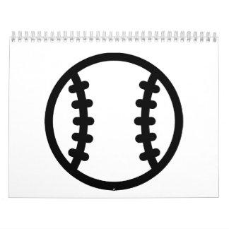 Bola negra del béisbol calendario