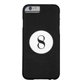 Bola negra del número 8 de la bola de piscina funda barely there iPhone 6