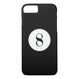 Bola negra del número 8 de la bola de piscina funda iPhone 7