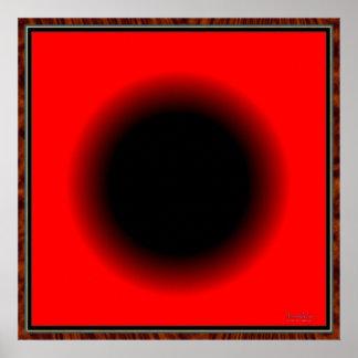 Bola negra siempre que encoge póster