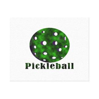 bola nublada pickleball green.png del texto n lienzo envuelto para galerías