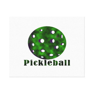 bola nublada pickleball green.png del texto n impresión en lona estirada
