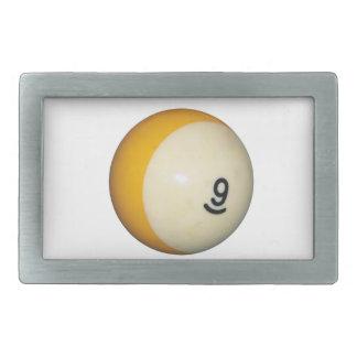 Bola nueve hebillas cinturon rectangulares