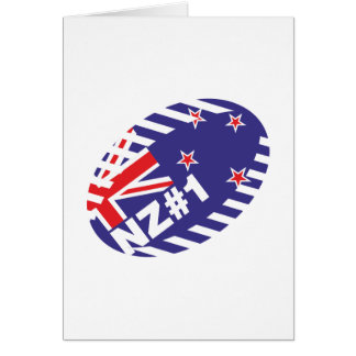 Bola NZ#1 de Rugy Tarjeta De Felicitación