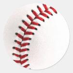 Bola original del béisbol etiqueta redonda