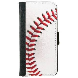 Bola original del béisbol funda cartera para iPhone 6