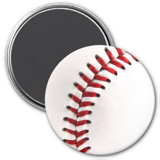 Bola original del béisbol imán redondo 7 cm