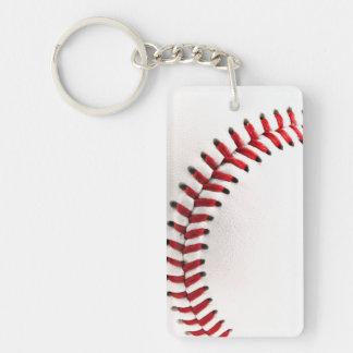 Bola original del béisbol llavero rectangular acrílico a una cara