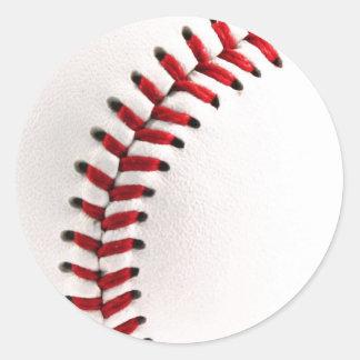 Bola original del béisbol pegatina redonda