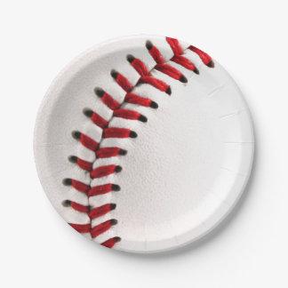 Bola original del béisbol platos de papel