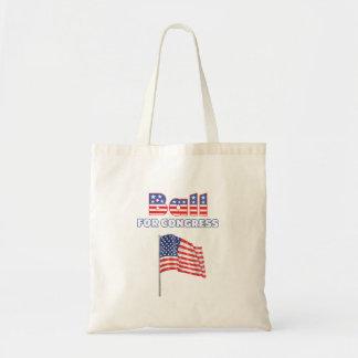 Bola para la bandera americana patriótica del cong bolsa tela barata