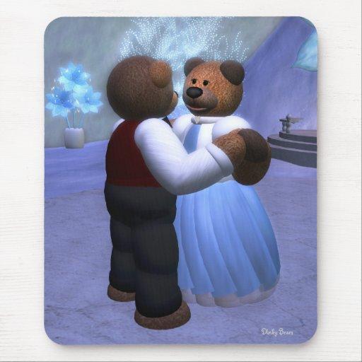 Bola pequeña del navidad de los osos alfombrilla de raton