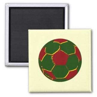 Bola por fãs de portugal 2 inch square magnet