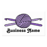 Bola púrpura de los ganchos del hilado y de tarjeta personal