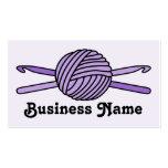 Bola púrpura de los ganchos del hilado y de tarjetas personales