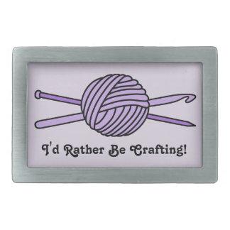 Bola púrpura del hilado (punto y ganchillo) hebilla cinturón