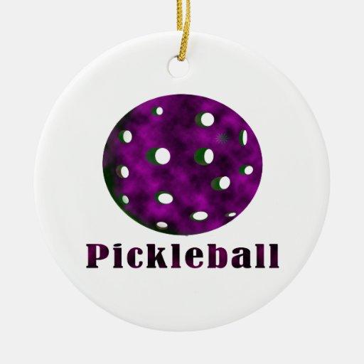 bola púrpura nublada pickleball .png del texto n ornamente de reyes