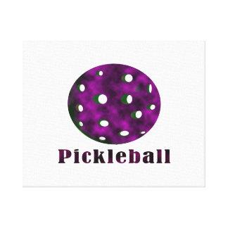 bola púrpura nublada pickleball .png del texto n lienzo envuelto para galerías