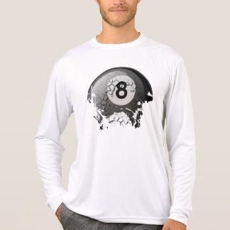 Bola quebrada y agrietada 8 camiseta