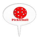 bola red.png del texto n del pickleball figuras para tartas
