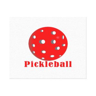 bola red.png del texto n del pickleball impresion de lienzo