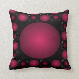 Bola roja 3D del diseño rojizo del tablero de ajed Cojines