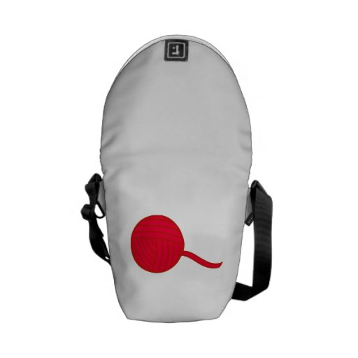 Bola roja del hilado bolsas de mensajeria