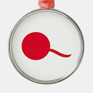 Bola roja del hilado adornos de navidad