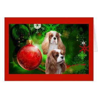 Bola roja G de rey Charles del navidad arrogante Tarjeta De Felicitación