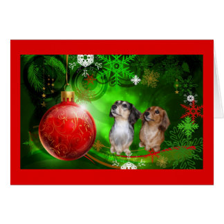 Bola roja Green1 de la tarjeta de Navidad del Dach