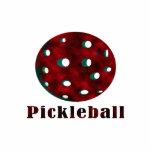 bola roja nublada pickleball .png del texto n escultura fotografica