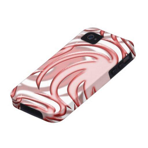 Bola roja vibe iPhone 4 carcasas