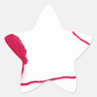 Bola rosada del amor pegatina en forma de estrella