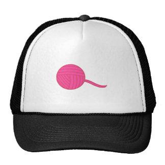 Bola rosada del hilado gorras de camionero