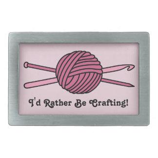 Bola rosada del hilado (punto y ganchillo) hebillas cinturón rectangulares