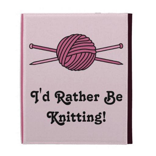 Bola rosada del hilado y de las agujas que hacen p