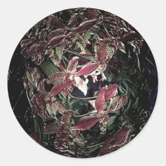 Bola rosada única antigua de la baratija de la pegatina redonda