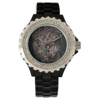 Bola rosada única antigua de la baratija de la relojes